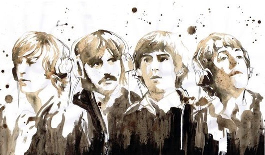 Beatles - Gouache