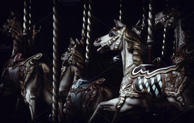 The Fairground - horses