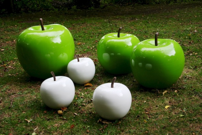 white apples