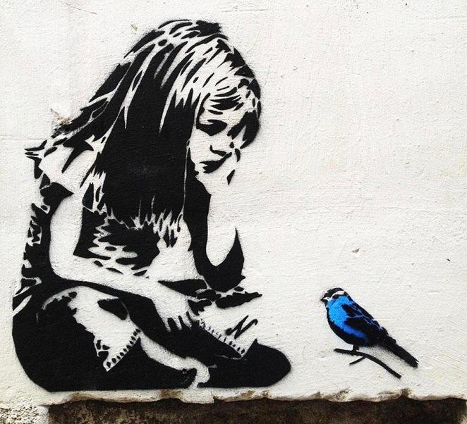 banksy - blue bird