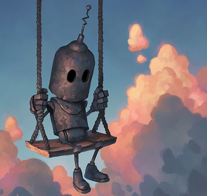 bot on a swing